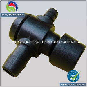Injection Molding Plastic Part for Valves T-Connector (PL18018) pictures & photos