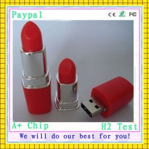 High Quality Lipstick Shape USB Flash Drive (gc-681) pictures & photos