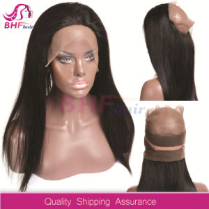 Brazilian Body Wave Pre Plucked 360 Lace Frontal with Baby Hair Free Part Natural Color 100% Human Hair Remy Hair pictures & photos