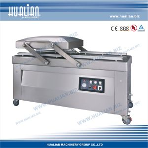 Hualian 2015 Big Double Chambles Vacuum Packing Machine with Gas (HVC-720S/2B-G) pictures & photos