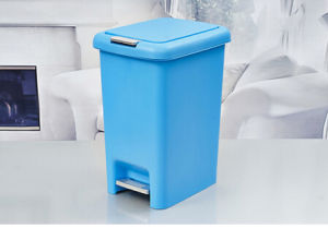 Yjl Double Cover Plastic Foot Pedal Waste Bin pictures & photos