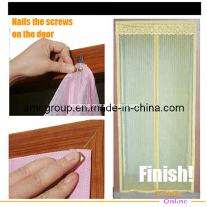 Magic Woven Mesh Magnetic Door Curtain (MDS-09) pictures & photos