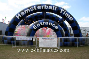 Inflatable Zorb Ramp/ Inflatable Ramp for Human Harmester/ Inflatable Tent with Pool for Zorb Ball