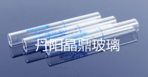Screwed Round Bottom Clear Glass Test Tube