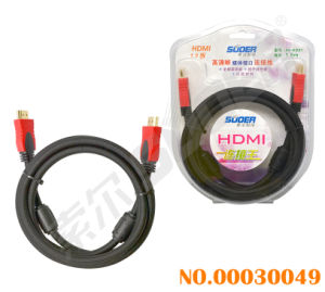Suoer 1.8m Double Loop HDMI to HDMI Cable Braided Wire HDMI Cable (AV-HD02-5M-Braided-Double Loop) pictures & photos