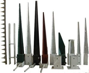 HDG Steel Square or Round Style Fence Pole Anchor pictures & photos