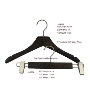 Female Wooden Clothes Hanger with Pants Hanger pictures & photos
