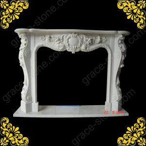 Stone Carving Classic Fireplace Mantel pictures & photos
