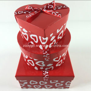 Custom Printing Ribbon Round Heart-Shaped Square Mixed Paper Gift Boxes Set pictures & photos