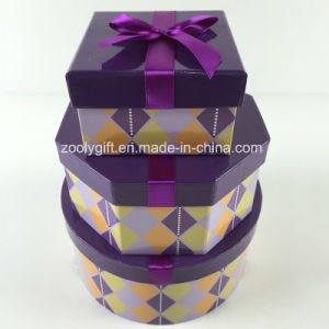 Custom Printed Octagonal Square Round Mixed Paper Gift Boxes Set pictures & photos