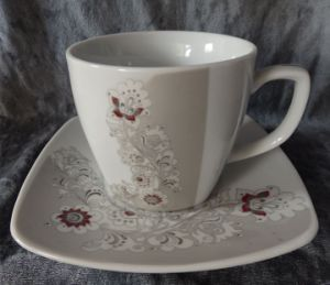 Porcelain Dinner Cup with Saucer, Ceramic Cup Set