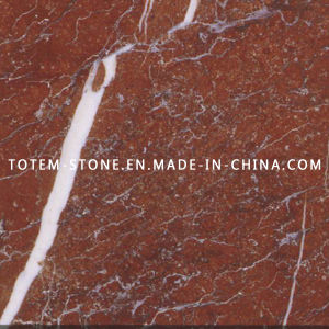 Polished Natural Stone Chinese Rojo Marble Floor Tile for Flooring pictures & photos