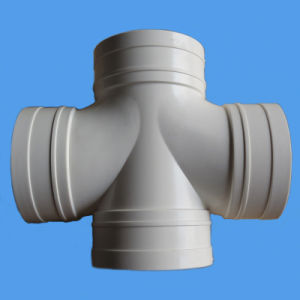 Stereo Cross Four-Way PVC Pipe Fitting for Drainage pictures & photos
