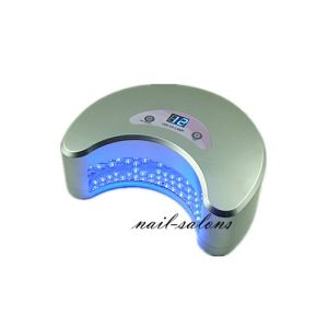 Professional 12W LED UV Lamp Silver Color with Timer Gel Polish Cure Lamp Nail Art Nail Tool