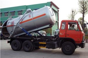 6*4 Dongfeng Chassis Vacuum Sewage Suction Truck for Exportation pictures & photos