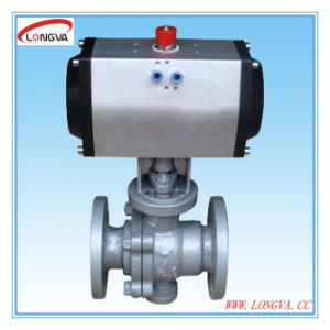 Pneumatic Actuator Industrial Flange Ball Valve pictures & photos