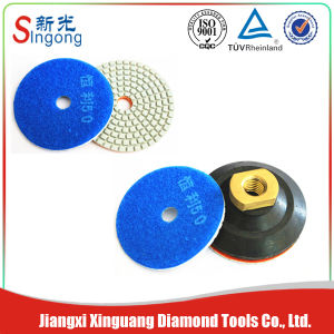 Professional Diamond Wet Flexible Polishing Pads for Stone pictures & photos