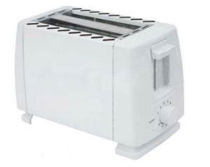 2-Slice Toaster with Metal Sides/PP Ends /White (WT-824) pictures & photos