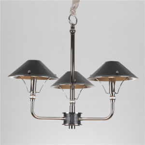 Iron Pendant Lamp Chandelier with Leather Shade (SL2077-3) pictures & photos