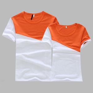 Fashion Summer Cotton Couple T Shirt (HY1060) pictures & photos