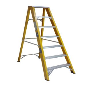 35kv Yellow Fiberglass 7-Step Ladder pictures & photos