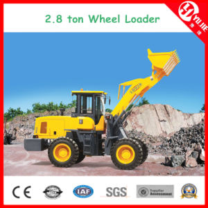 Zl28 High Efficiency 2.8 Ton Wheel Loader with Fork (2800kg) pictures & photos