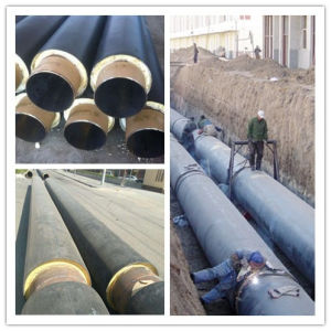 Pre-Insulated Steel Pipe Polyurethane Foam Insulation and HDPE Jacket pictures & photos