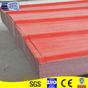 Red Color Galvanized Trapezoid Steel Roof Sheet (YX25-205-820) pictures & photos