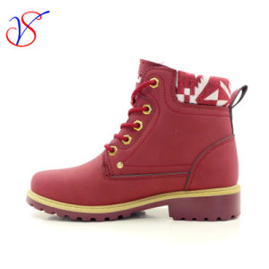 2016 New Style Injection Women Work Boots Shoes for Job (SVWK-1609-018 WINE) pictures & photos