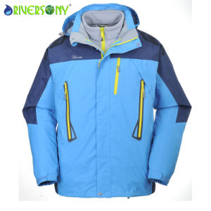 Polyester/Fleece Fabric Waterproof Hiking Jacket pictures & photos