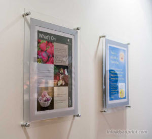 Wall Mount Advertising Display Poster Clear Acrylic Frame For Decorate