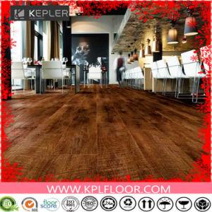 Indoor and Commercial Wood Grain Interlocking Lvt PVC Vinyl Floor pictures & photos