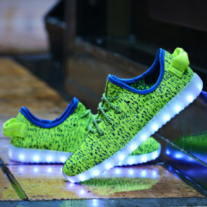 7 Colors LED Luminous Unisex Yeezy Sneakers USB Charging LED Lights Shoes for Adults pictures & photos