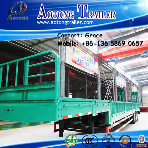 High Wall Semi Trailer, Bulk Cargo Semi Trailer, Side Board Semitrailer, Side Boards Flatbed Semi Trailer, Flatbed with Side Wall, Open Side Board Cargo Trailer pictures & photos