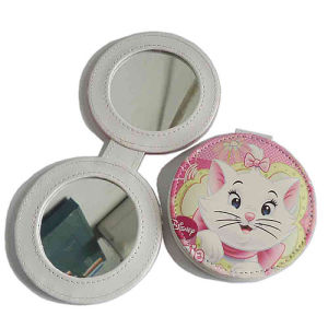Promotional Lady PU Leather Compact Make up Mirror (B2001) pictures & photos
