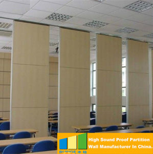china folding door, wooden operable partition for banquet hall