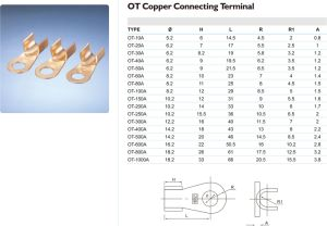 Ot Series Copper Connecting Terminal Wire Cable Lug pictures & photos