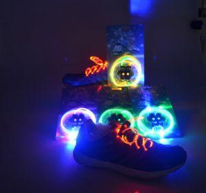 2017 New Shoelace LED Plastic Shoelace Shine Night Run Shoelace pictures & photos