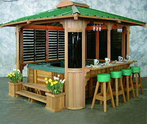 Hot Sale Fashionable Hot Tub Outdoor Wood Gazebo (SR892) pictures & photos