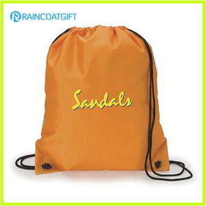 Promotional Factory Price Logo Printed Custom Nylon Drawstring Backpack pictures & photos