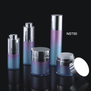 Round Acrylic Plastic Lotion Bottles Cosmetic Packaging and Cream Jar (NST50) pictures & photos