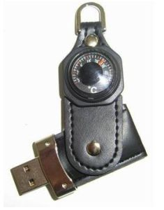 Swivel Leather USB Flash Drive with Compass pictures & photos