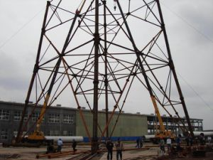 Hot-DIP Galvanized Self-Supporting Steel Tower pictures & photos