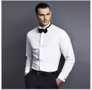 Slim Fit White Cotton Dress Shirts Men′s Business Shirt pictures & photos