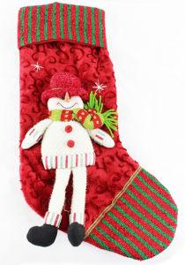 Christmas Plush Socking with Sonwman