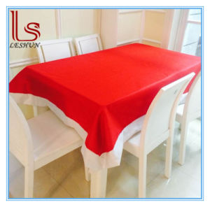 Christmas Products Christmas Decorations 132 * 208 Cm Super Long Nonwovens Christmas Tablecloth pictures & photos
