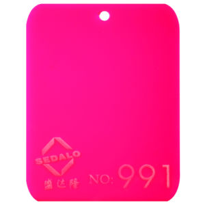 The Fluorescent Pink Cast Acrylic Sheet (SDL-991) pictures & photos