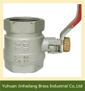 Forged Brass Ball Valve for Water with Brass Ball and Steel Handle