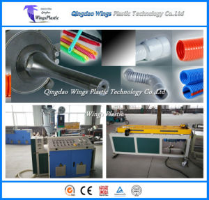 10-36mm PE / PP / PA Plastic Single-Wall Corrugated Pipe Extrusion Production Line pictures & photos