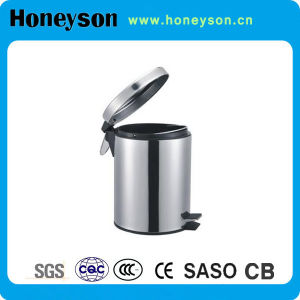 12L Large Capacity Stainless Steel Pedal Hotel Litter Bin pictures & photos